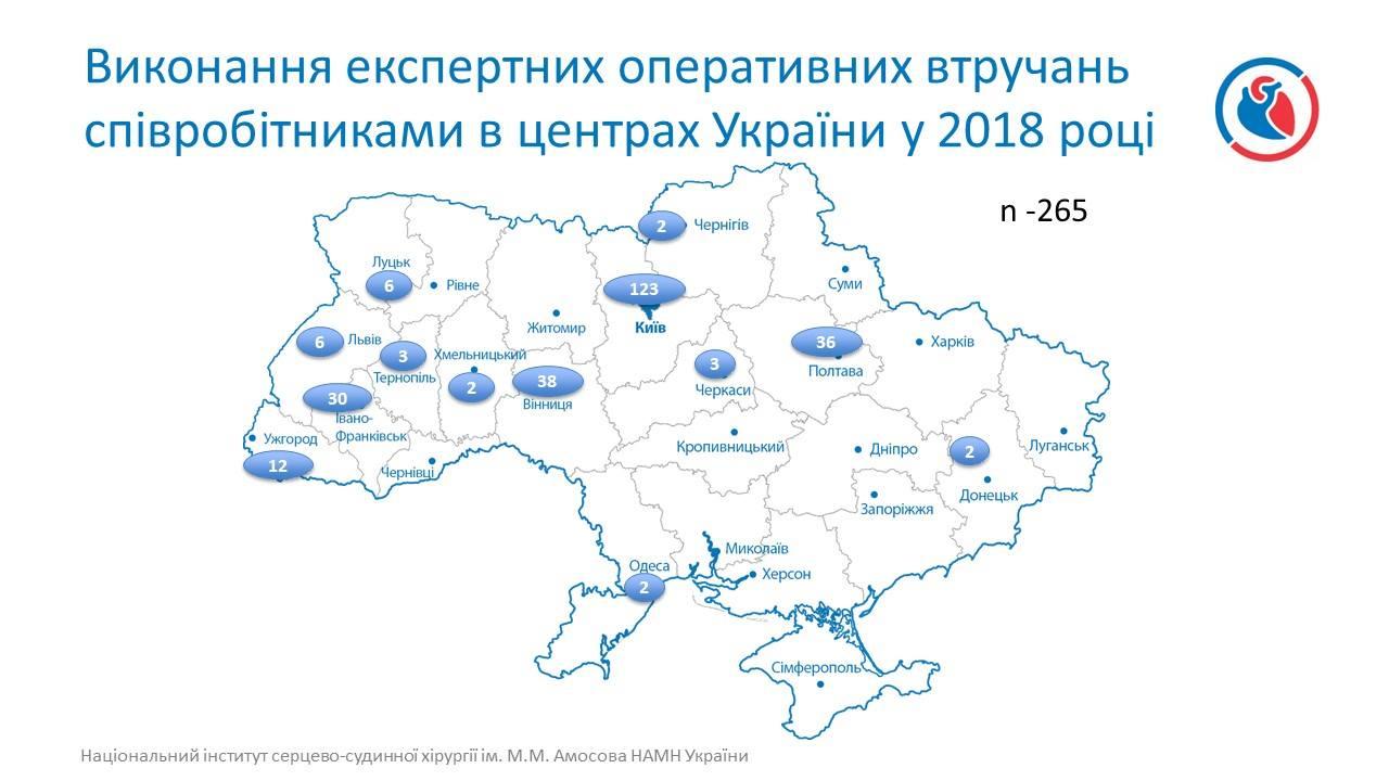 Оперативні втручання по всій Україні